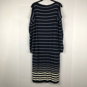 🎃 NWT Max Studios cold shoulder striped dress